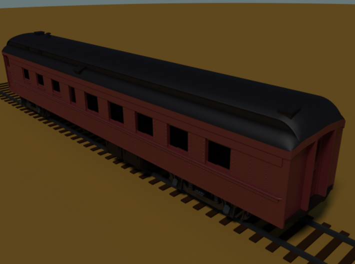 PRR D78AR (shortened)(1/160) 3d printed Rendered in Blender