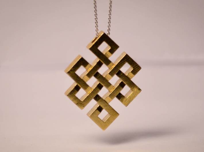 Eternal Knot Pendant 3d printed