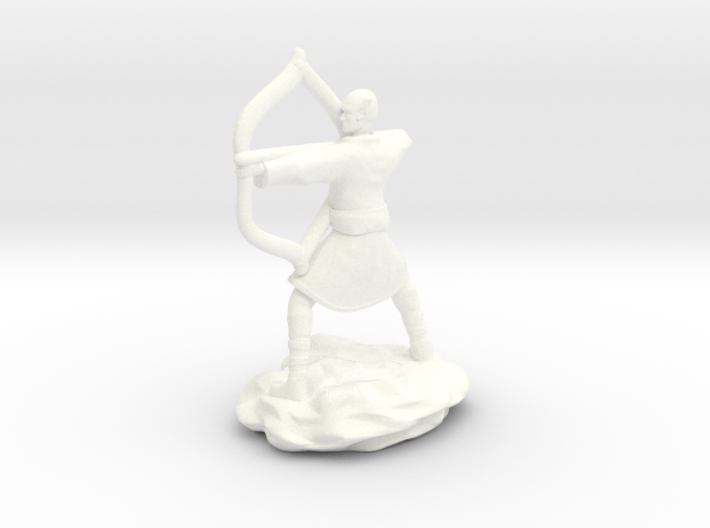 Elf Monk In Robes With LongBow 3d printed