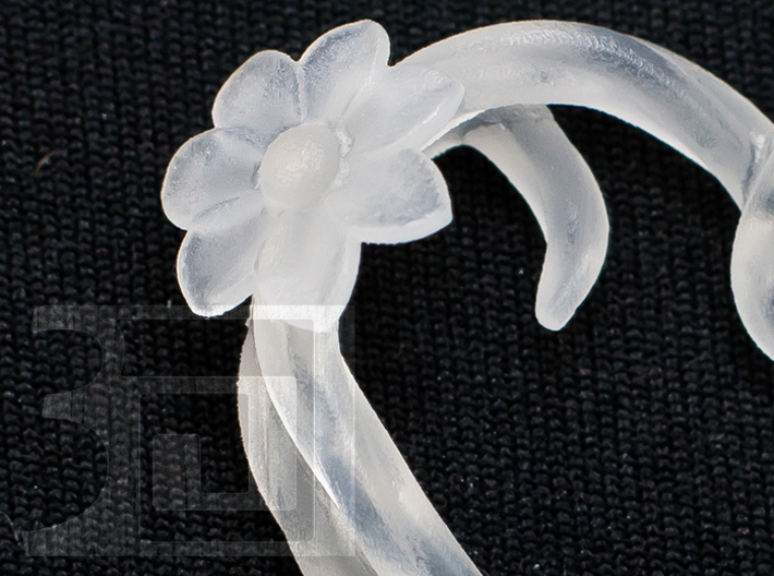 Knotted Blossom Heart 3d printed