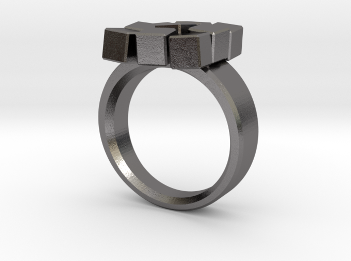 Irregular Cube Ring 3d printed