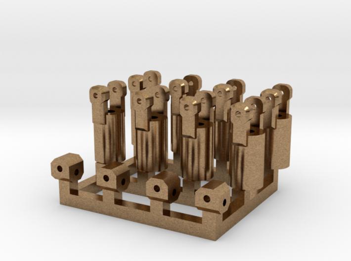 4x Kardangelenk Messing 3d printed