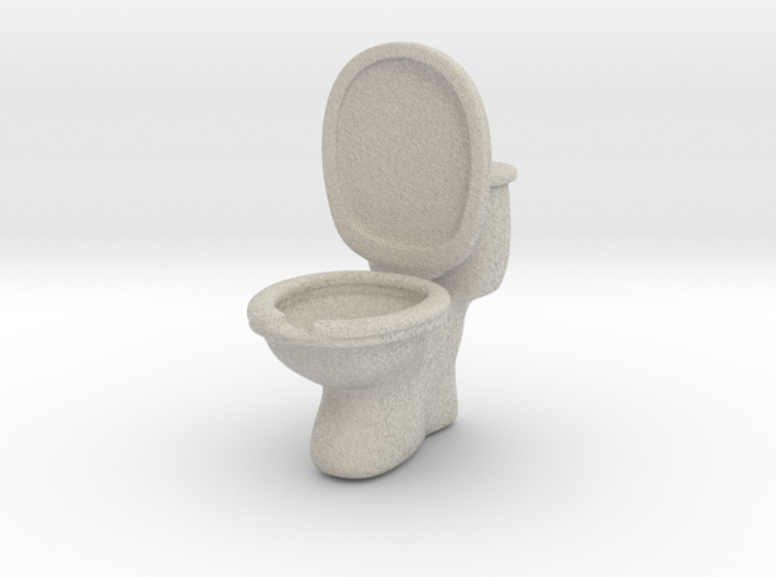 Toilet ashtray(removable tank cover) 3d printed