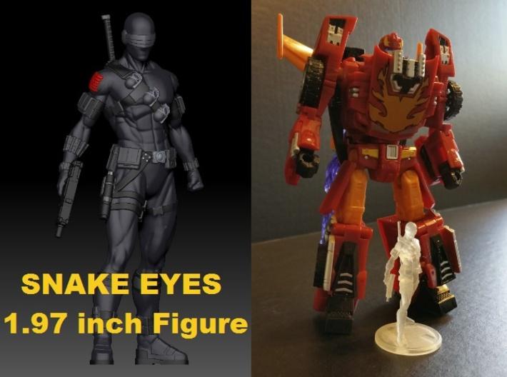 SNAKE EYES Of GI JOE 1.97 Inch Figure 3d printed Snake Eyes 1.97 inch Figure printed in Frosted Ultra Detail