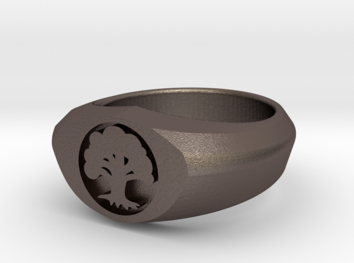 MTG Forest Mana Ring (Size 7) 3d printed