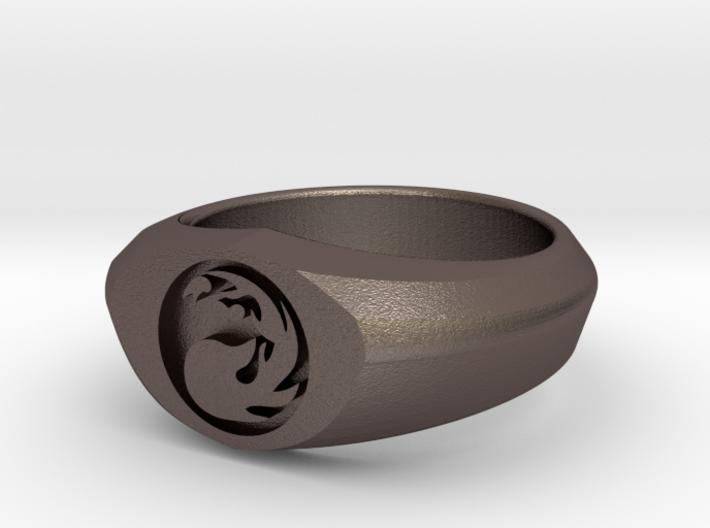 MTG Mountain Mana Ring (Size 8) 3d printed