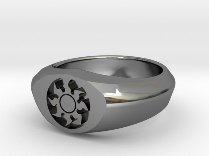 MTG Plains Mana Ring (Size 8 1/2) 3d printed