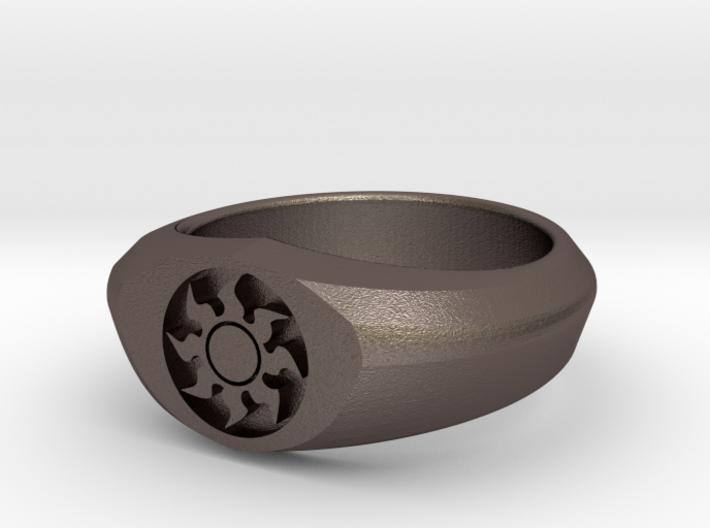 MTG Plains Mana Ring (Size 9) 3d printed