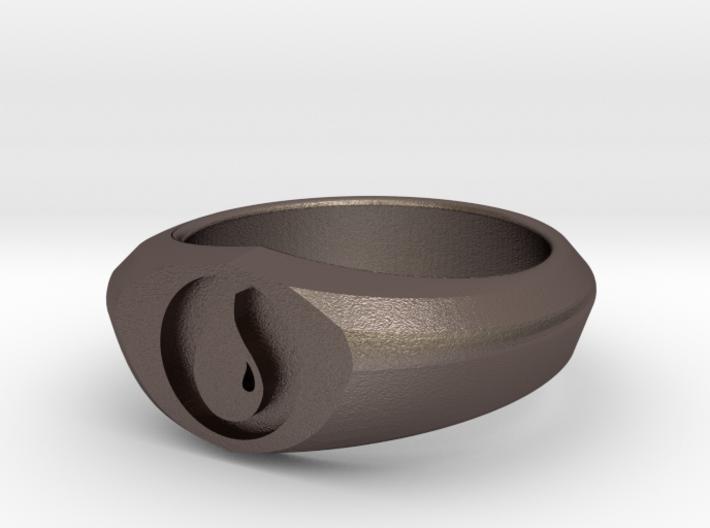 MTG Island Mana Ring (Size 10) 3d printed