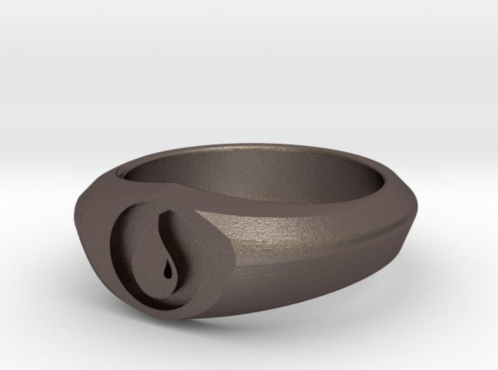 MTG Island Mana Ring (Size 12) 3d printed