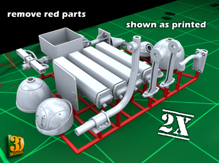Surveillance cameras (double pack) 3d printed surveillanc camera - parts and frame (remove red parts)