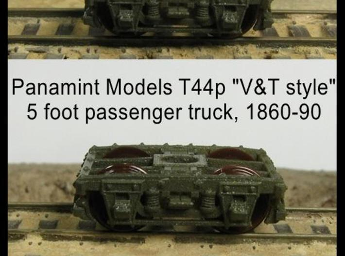 "T44p x8 N scale 1860-90 ""V&T style"" 5' pass trucks 3d printed"