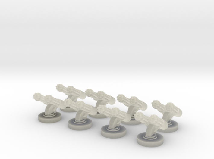 8 Double Gatlings for 6mm, 1/300 or 1/285 3d printed