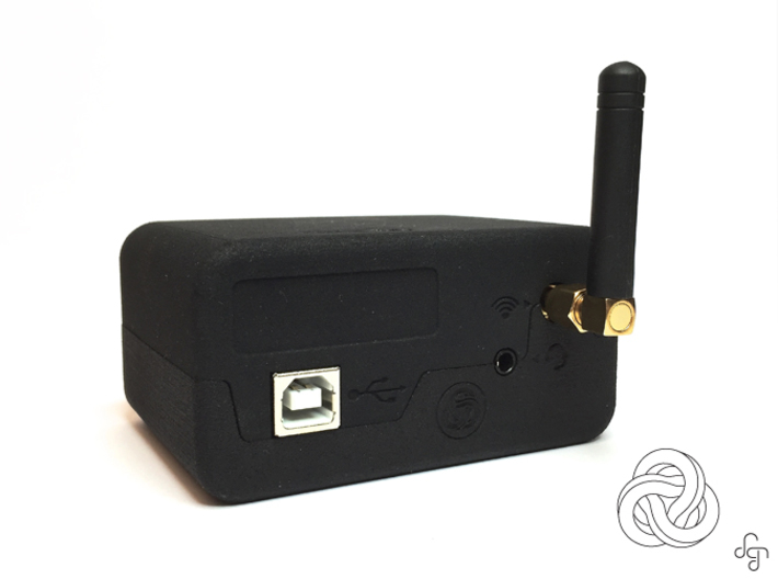 SMS Box Case 3d printed Back [Black Strong & Flexible]