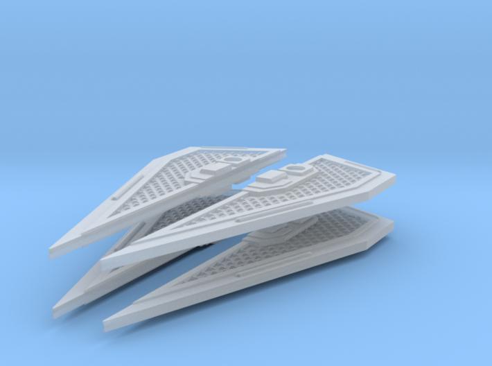 4 Royal TIE Interceptor Wings 3d printed