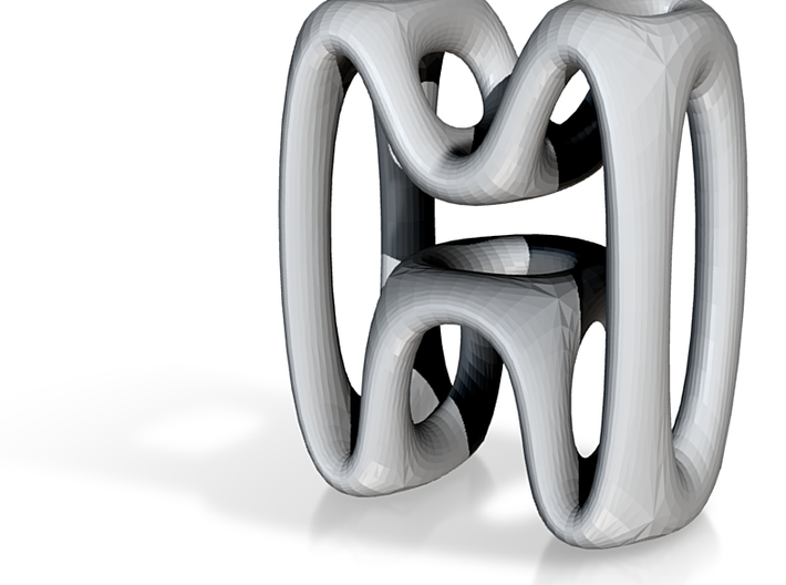 Alphabet M 3d printed In an abstract organic design and 10mm Tall.