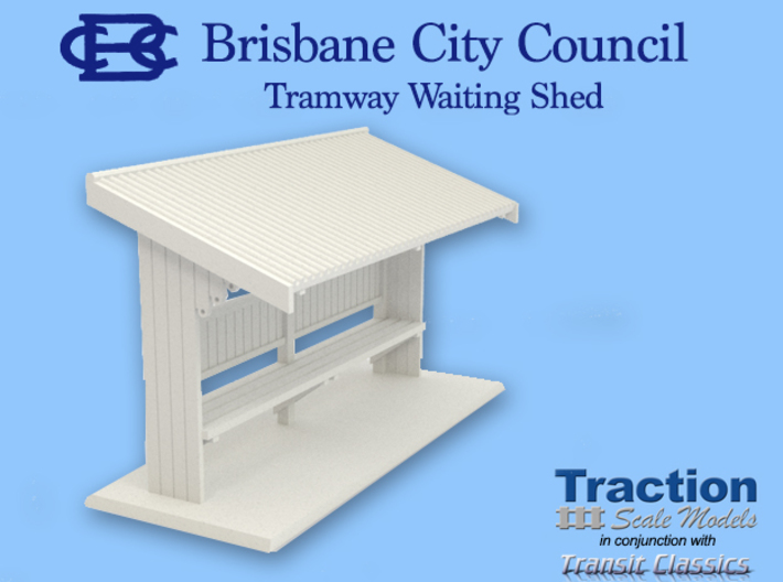 Brisbane Tram Shelter O scale 1:43 3d printed