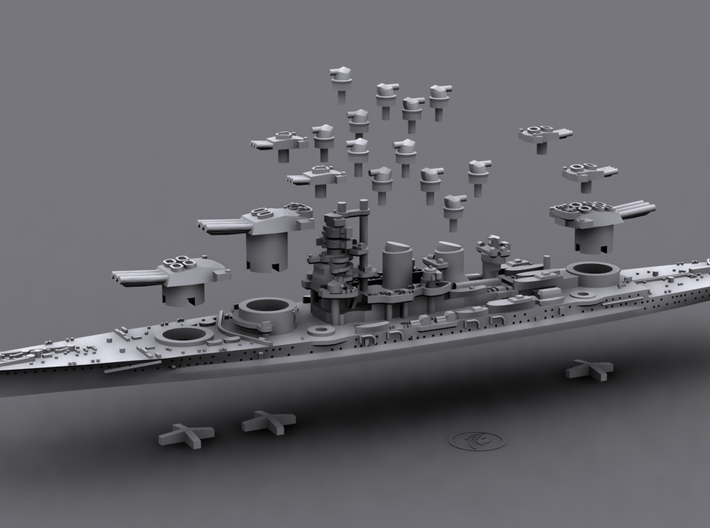 1/1800 IT BB Littorio [1942] 3d printed Computer software render
