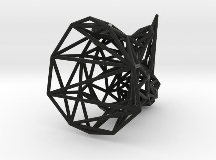 Rhino head wireframe 3d printed