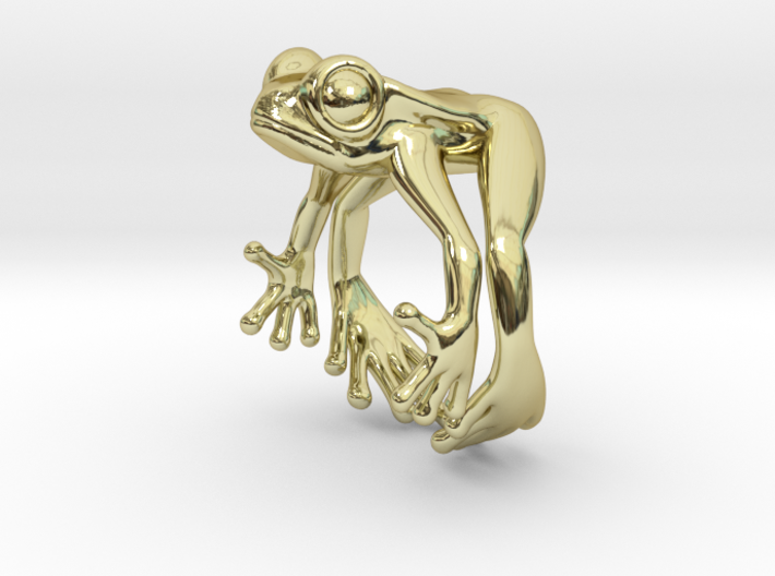 Frog Ring v2 15mm 3d printed