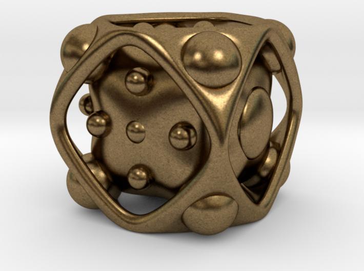 Dice No.2 M (balanced) (2.4cm/0.95in) 3d printed