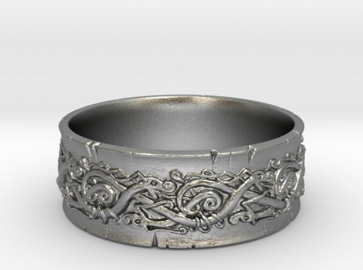 Jörmungandr Ring - size 10 5/8 (20.32mm) 3d printed