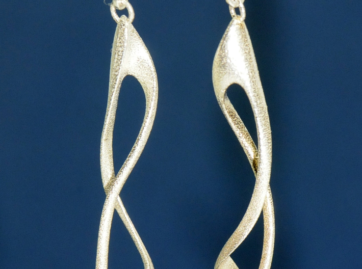 loop and multiple twisted straight version 3d printed Silver print of two items with findings. (Each sold separately)