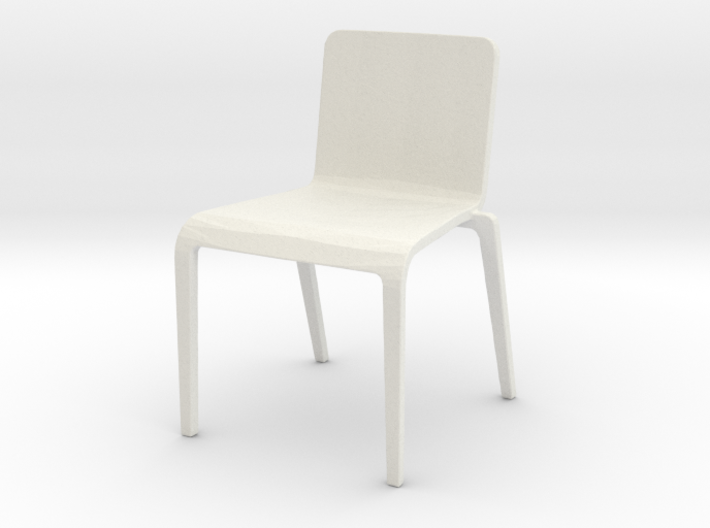 Plastic Stacking Chair 1:24 scale 3d printed