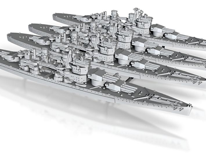 1/3000 UK Lion class battleship (1939) x4 3d printed