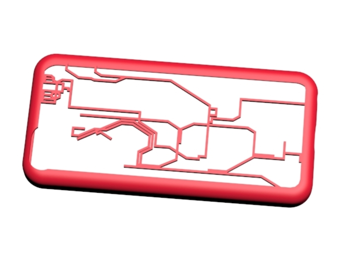Hong Kong MTR map iPhone 5c case 3d printed