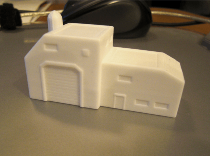 Assembly Facility (1/285) 3d printed successfully printed in polished WSF