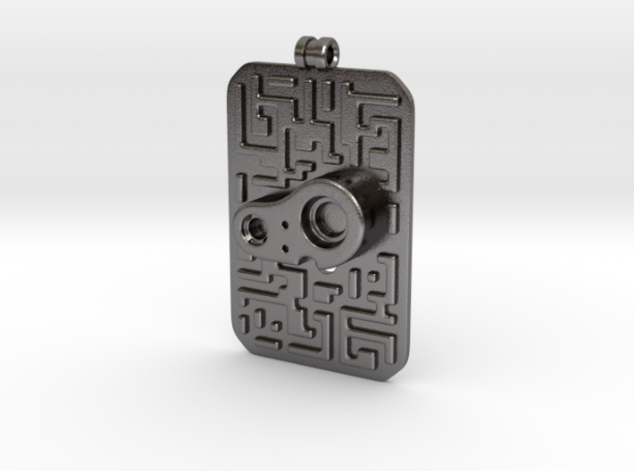 Laputian Sentry Seal Pendant 3d printed
