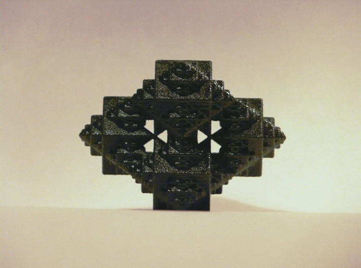 Fractal Octacube 3d printed Black Strong & Flexible (painted in Black)