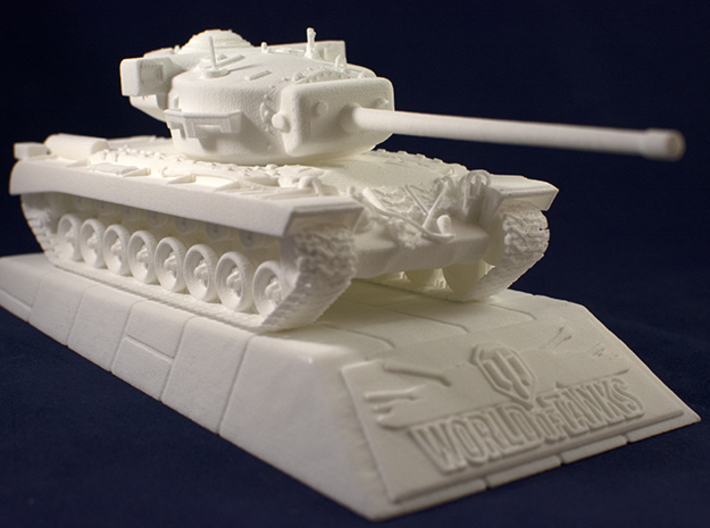 1:48 T29 Tank from World of Tanks game 3d printed Photo of printed model on stand. Stand is sold separately