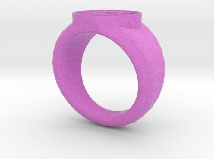 Anti Green Lantern Ring 3d printed