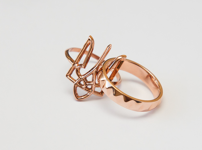 Faceted Ring. US 5.0 3d printed