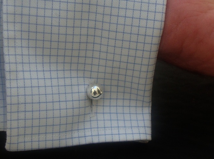 Dodecufflinks 3d printed Use (Back) [Polished Silver]