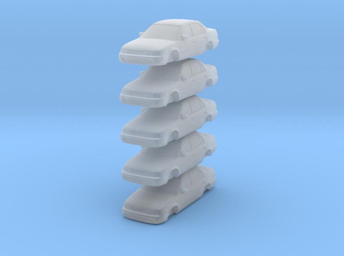 n scale 1993-1997 toyota corolla 5 pack 3d printed