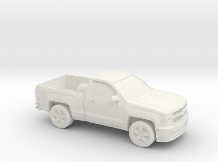 1/87 2015 Chevrolet Silverado Single Cab 3d printed
