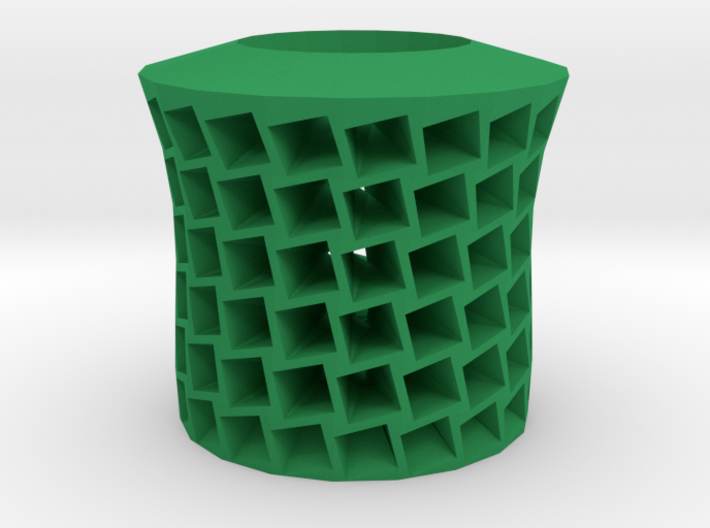Square holes vase 3d printed
