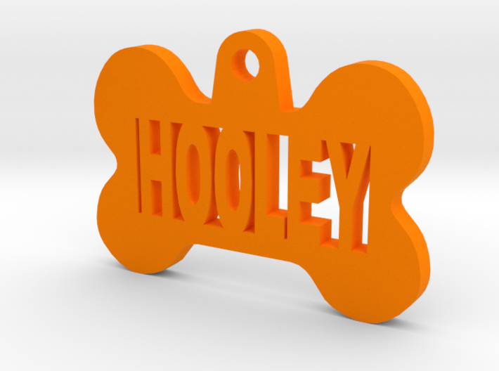 Bone Pet ID Tag - Hooley 3d printed