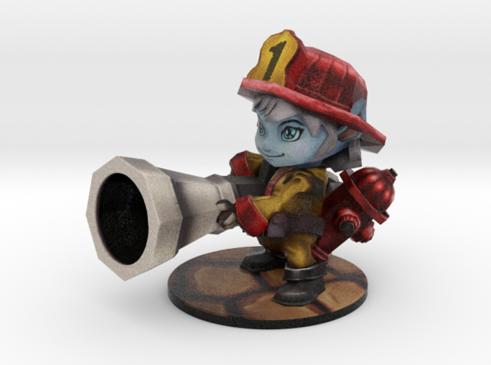 Tristana Firefighter - 65mm 3d printed