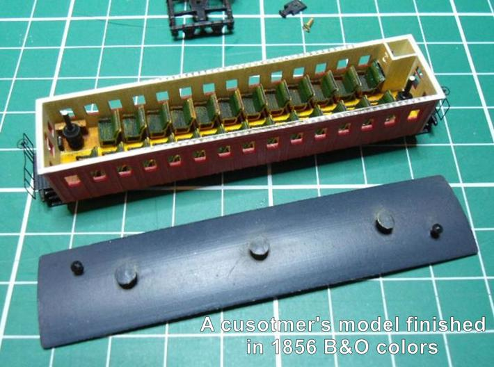 R02i N scale B&O 1856 passenger coach with int. 3d printed