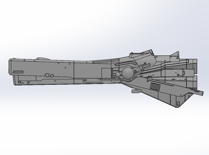 LoGH Imperial Fast Battleship 1:3000 (Part 2/2) 3d printed Render Image