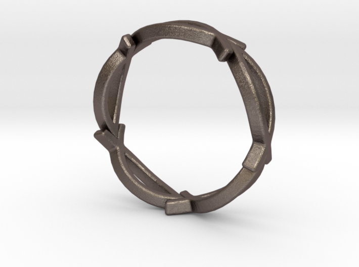 Jesus Fish Eterniy Style Ring Size 12 3d printed
