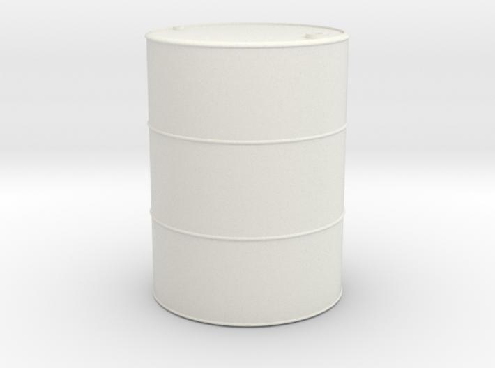1/16 scale 55 Gallon Oil Barrel 3d printed