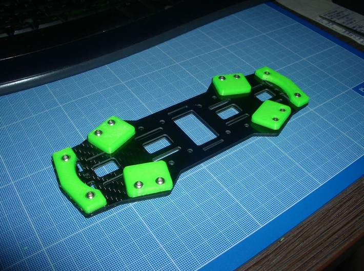 Landing Skids for ZMR250 4mm 3d printed
