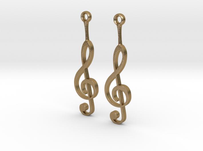 Musical Staff Earings 3d printed