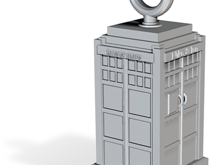 Tardis Pendant Commission  3d printed