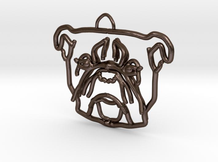 American Bulldog Pendant 3d printed